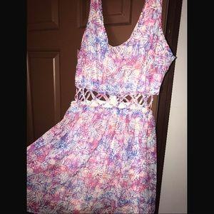 Pink purple and white Aeropostale dress!